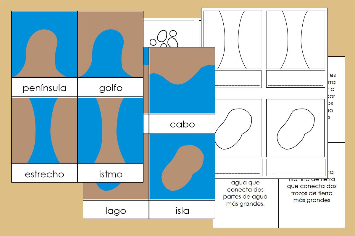 Formas de la Tierra y el Agua Montessori – Imprimible Gratis ...