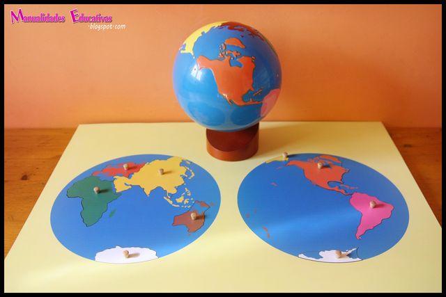 Mapas Puzzle Montessori Continentes Y Océanos Imprimibles Gratis