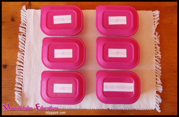 Lenguaje Montessori Serie Rosa Cajas De Objetos Creciendo Con