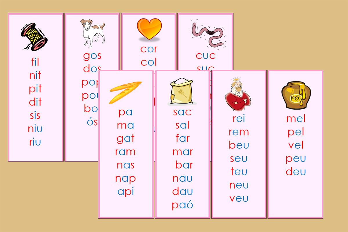 listas de palabras catalán