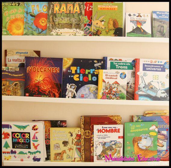 Biblioteca en el pasillo con las estanter as ribba de ikea - Ikea estanterias para libros ...