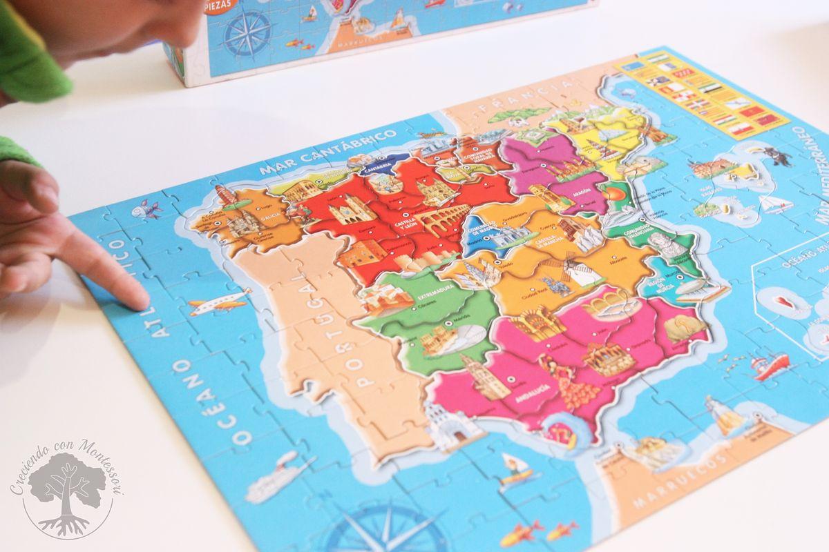 Puzzle de las provincias de espa a de educa creciendo con montessori - La casa del puzzle madrid ...
