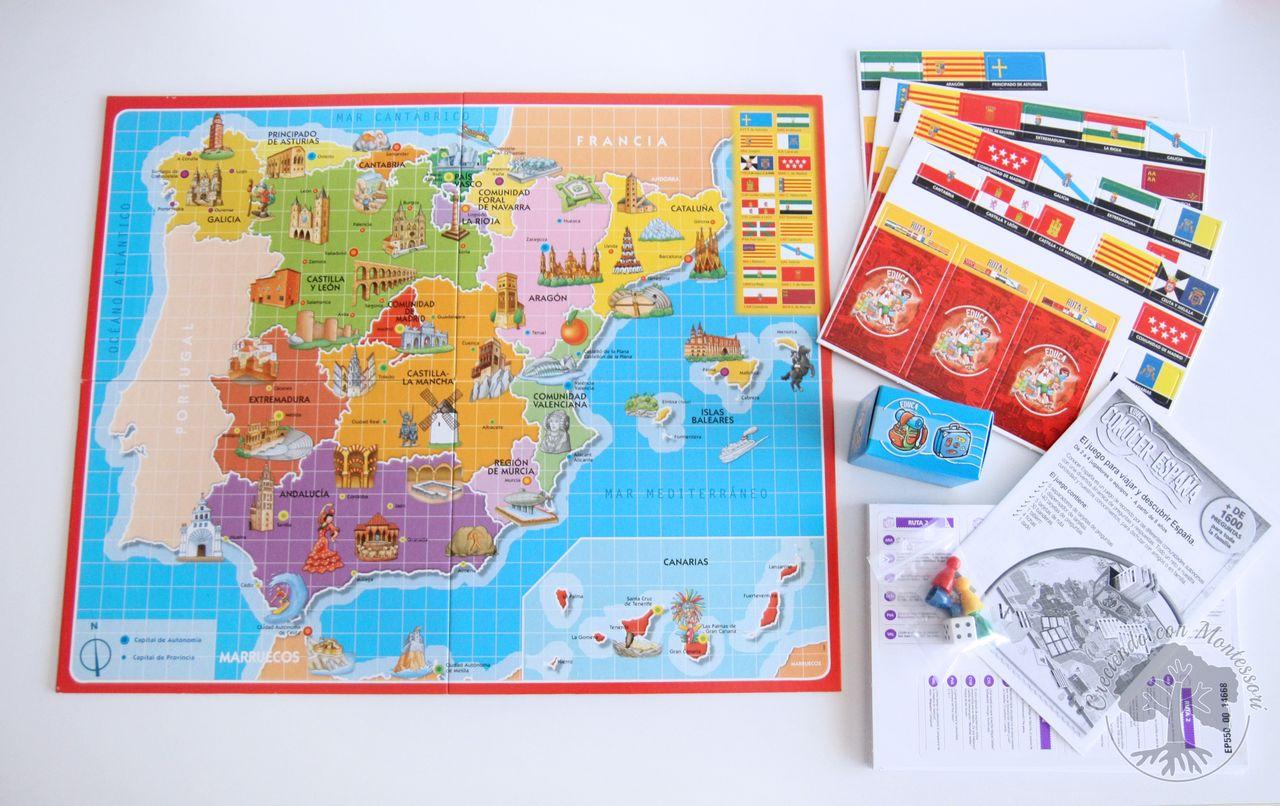 Juegos De Mesa Conocer Espana Y Conocer Europa Tarjetas 3 Partes