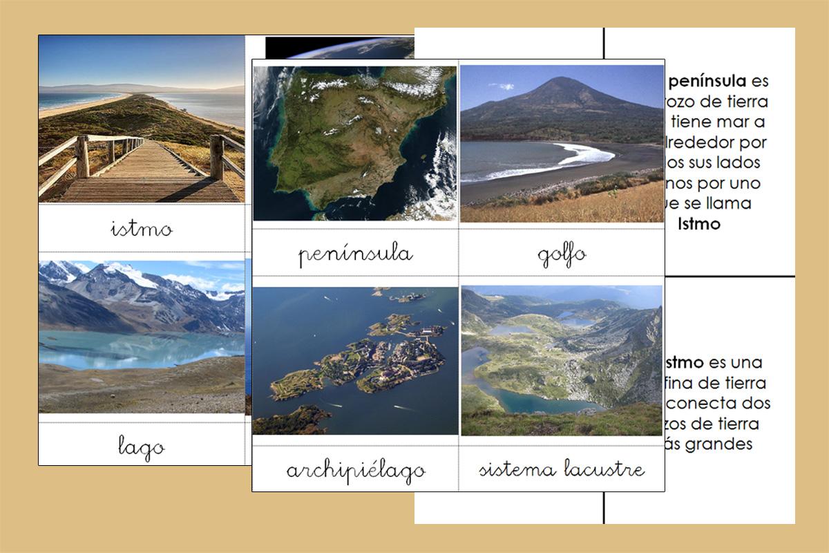 Formas de la tierra y el agua imágenes reales