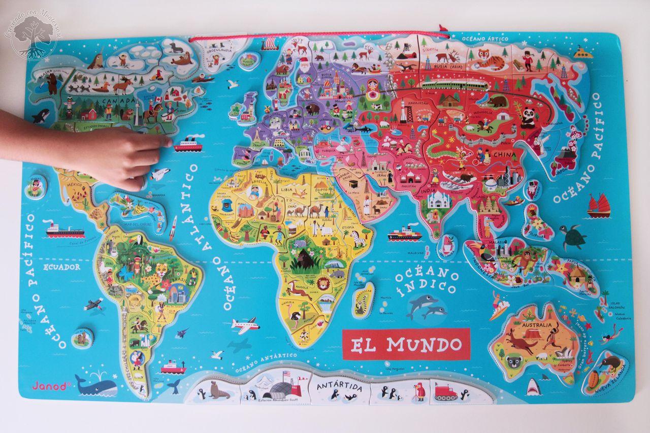 Aprendiendo geografa con el mapa magntico de janod creciendo con no es ningn secreto que somos grandes fanticos de los puzles y tampoco que tenemos varios de geografa de hecho empiezo a pensar que rozamos el gumiabroncs Gallery