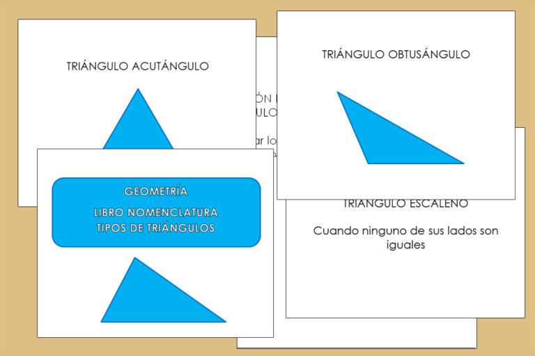 Libro Nomenclatura e los tipos de Triángulo
