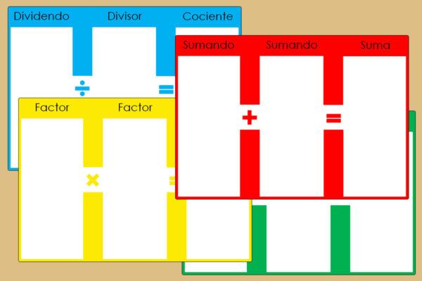 Tableros de Operaciones Montessori
