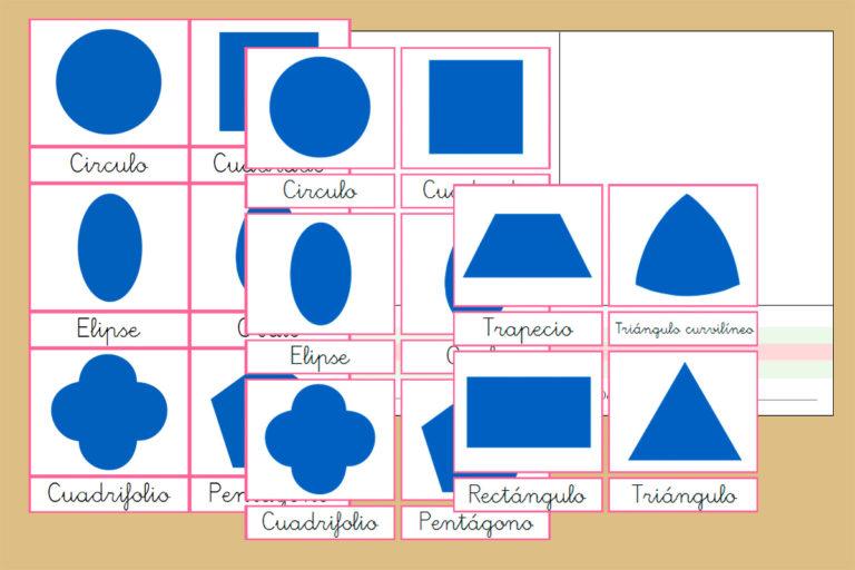 Tarjetas Montessori para los Resaques