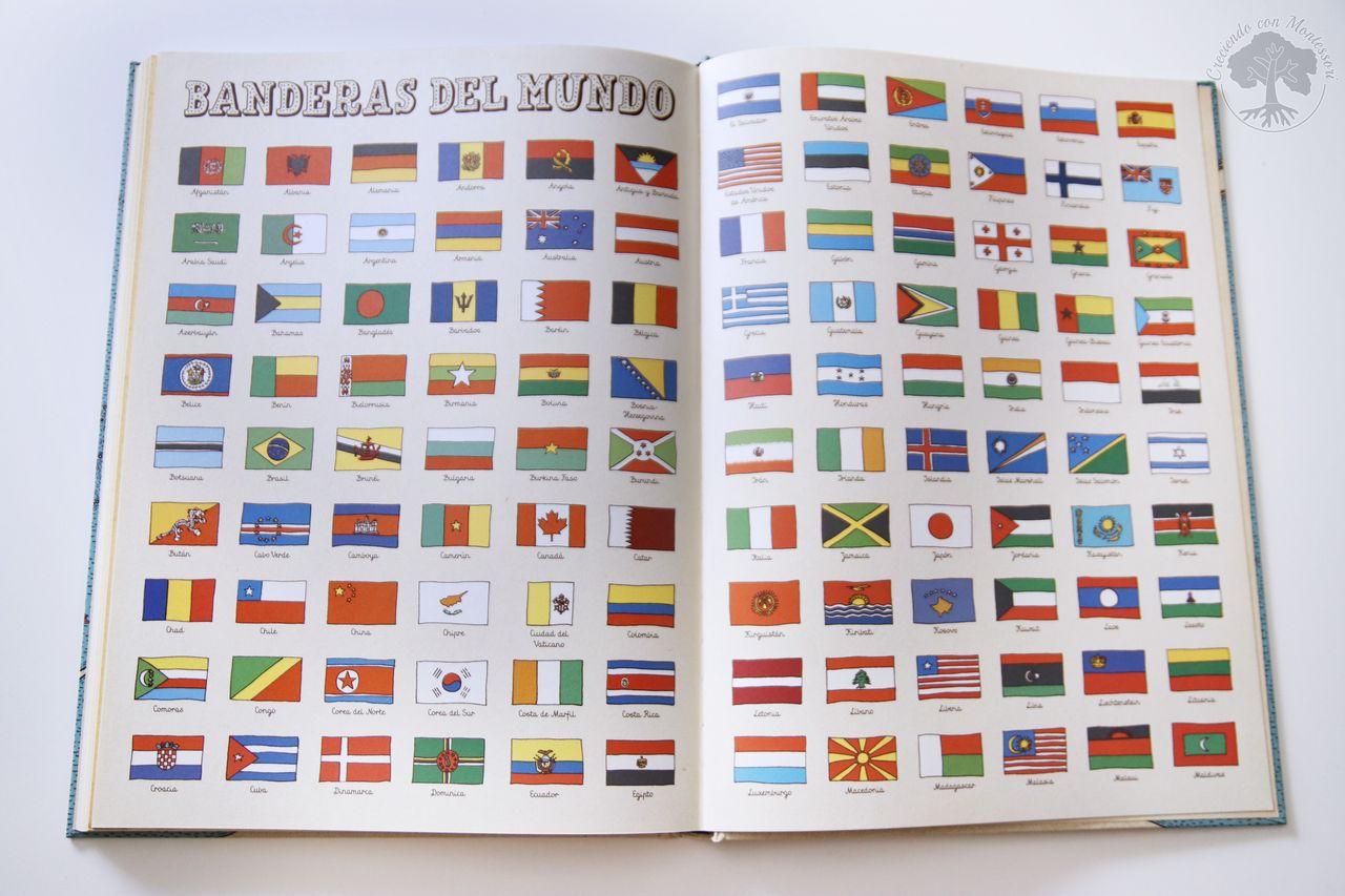 Atlas del Mundo + Libro Actividades + Mapa de Banderas Montessori ...