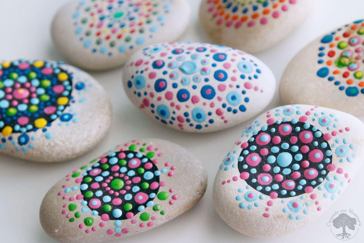 Diy Pintar Mandalas En Piedras Para Ninos Creciendo Con Montessori