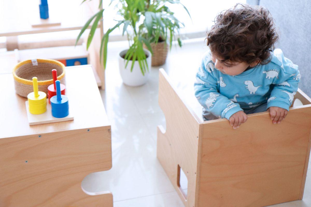 Montessori Con Creciendo Silla – Cubo TJ3FKcl1
